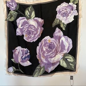 Vince Camuto Rose Silk Scarf Square NWT